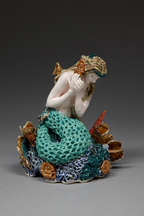 0O6Y8971. Listening to My Heart, 2009, stoneware, glaze, lustre, H 16cm x W 15cm