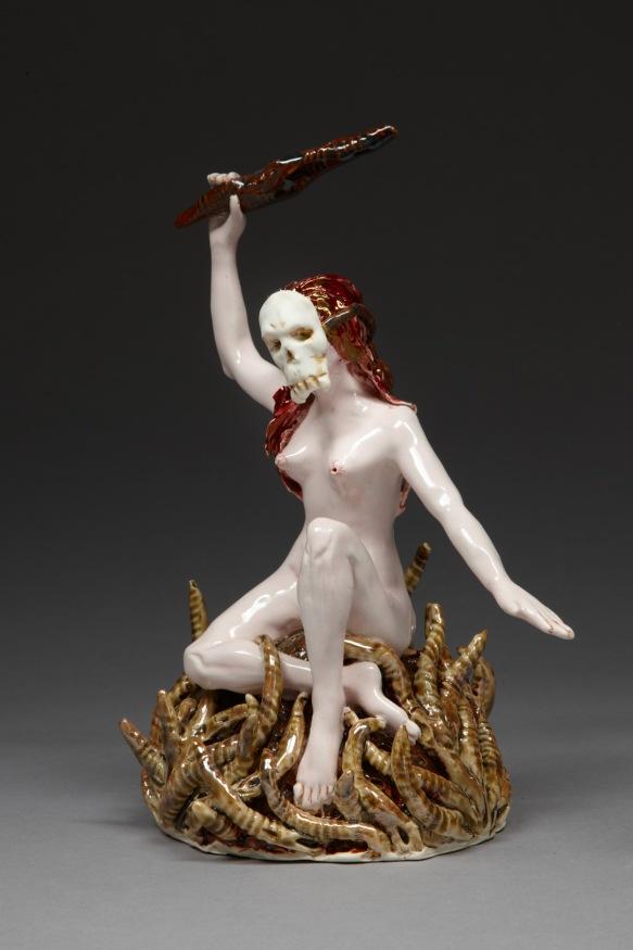 0O6Y8981. I Have to Defend Myself, 2011, stoneware, glaze, lustre, H 27cm x W 18cm